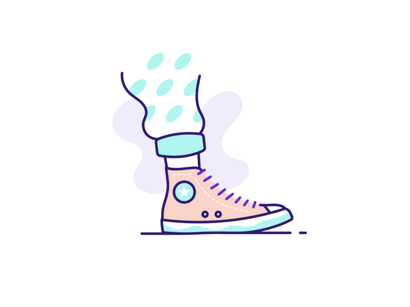 Converse shoes illustration icon outline illustration illustration outline design cool shoes shoes all star converse