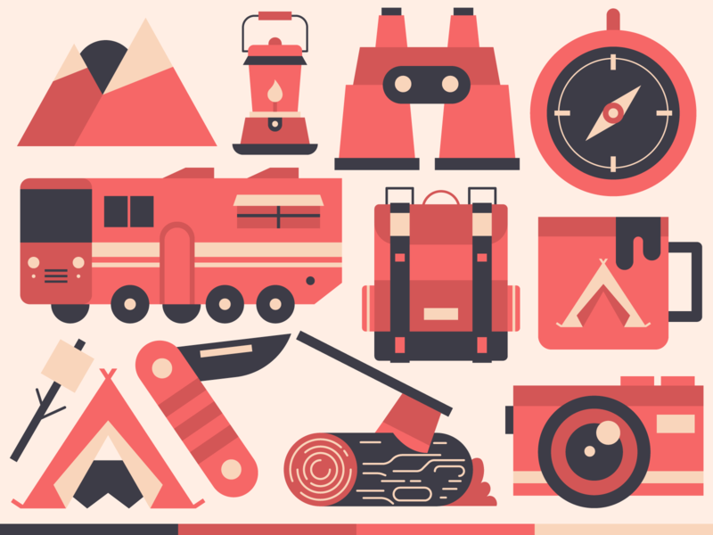 Freebie: Camping Illustration