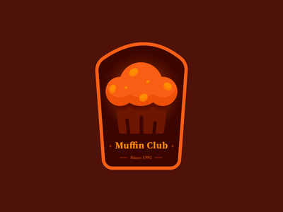 Muffin Club Badge icon branding illustration logo badge cupcake cake muffin