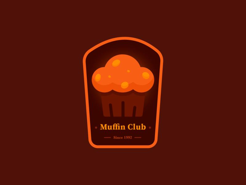 Muffin Club Badge icon branding illustration logo badge cupcake cake muffin