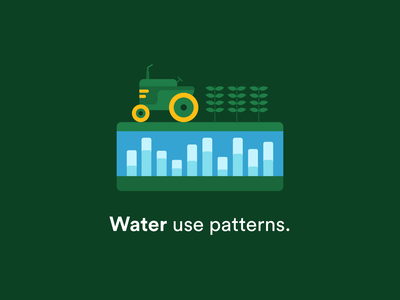 Croply - Water Use Patterns Illustration water use insight water use illustration 2d illustration agriculture illustration plan illustration farming illustration water use water usage farming farm agriculture tractor