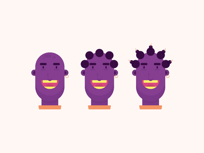 Purple Bomb Character gigantic character portrait avatar icon design character icon character illustration illustration 2d character design character design purple