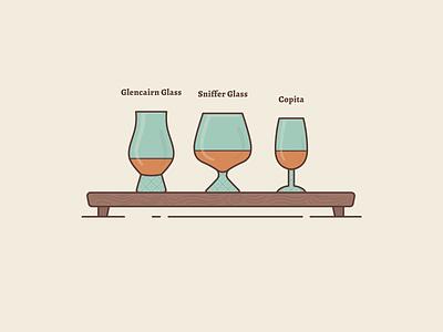 Aroma Booster bar menu design drink menu copita sniffer glass glencairn glass 2d illustration drink illustration alcohol drink alcohol whiskey drink drink glasses aroma booster aroma