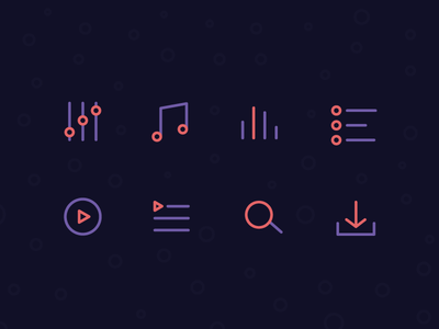 Music song purple icon player mp3 tune music