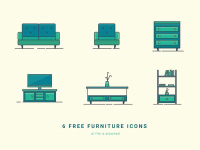 6 Free Furniture Icons