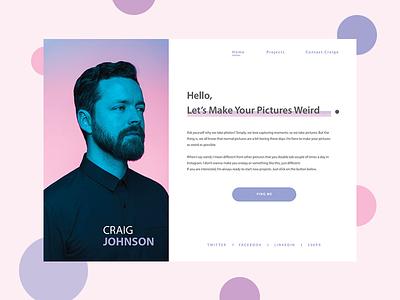 Craig Johnson - Personal Website minimal minimal ui website ui landing page ui personal website