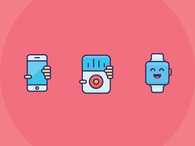 iDevice illustration outline icon apple watch ipod iphone