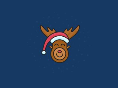 Merry Christmas! icon merry christmas new year deer santa hat santa holiday christmas day christmas
