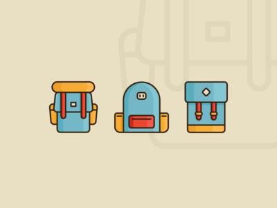 Backpacks invitation dribbble invite camping bag icon backpacks backpack