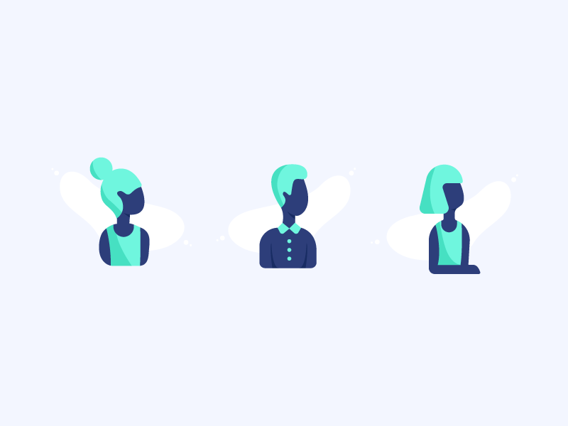Night Blue Characters product illustration product design icon illustration character