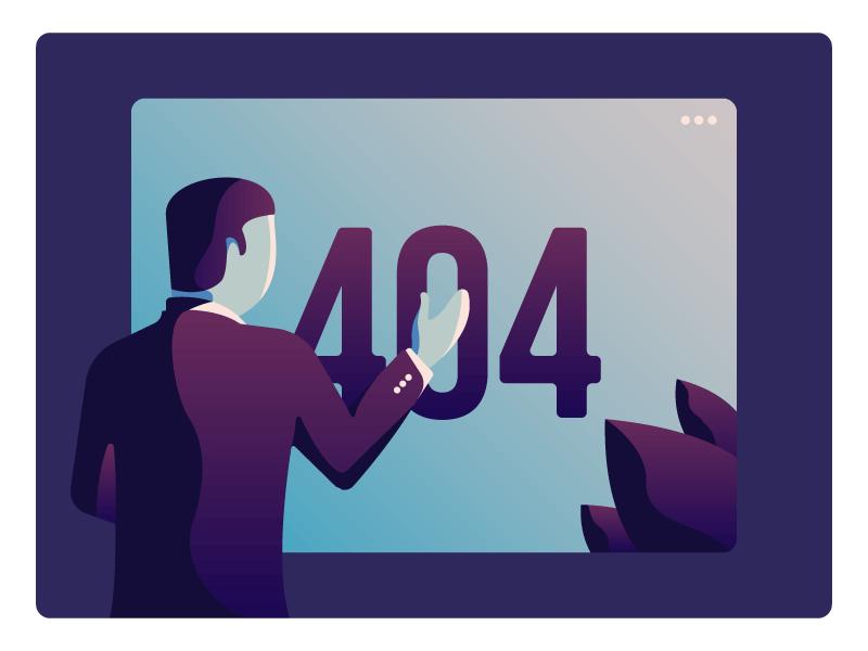 404 Not Found invite dribbble invite product illustration illustration ui 404 ui not found page 404