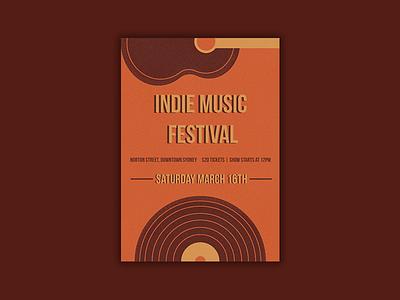 Indie Music Festival - Sydney vintage illustration illustration music poster indie music festival indie music