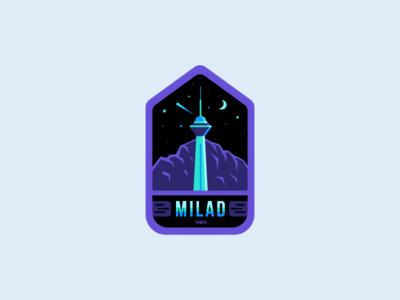 Milad Tower Badge icon illustration badge tower milad persian iran tehran milad tower