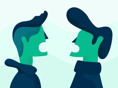 Communication green icon illustration character design hoodie argument conversation chat communication hairstyle hair male character