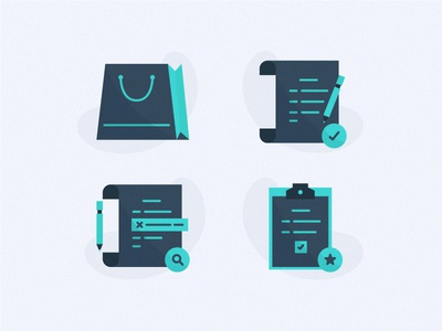 Order Icons spot illustration illustration icon icon design e-commerce online shopping tasks task correct correction ordering order list order shopping bag shop shopping