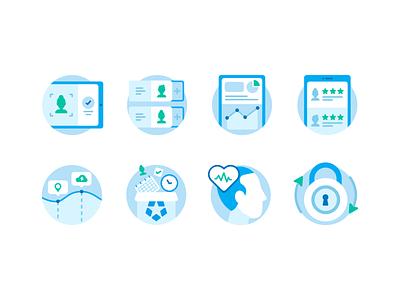 Deputy Enterprise mental illustration icon design phone information secure lock rating fair data enterprise shift shift worker deputy spot illustrations icon