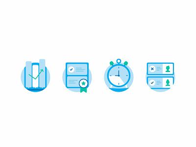 Deputy - Scheduling Software growing star spot illustration icon illustration icon scheduling shift shift worker clock certificate achievement badge bar chart chart deputy