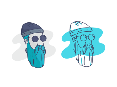 Hipster character design character sunglasses sunnies glasses hat beard hipster