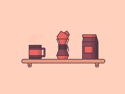 Coffee Set parham marandi parham illustration outline icon coffee bag coffee bean breakfast morning cafe cup mug coffee cup coffee
