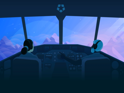 Copilot: Deputy Design System deputy airplane character sky sunrise mountain design system design cockpit copilot plane pilot