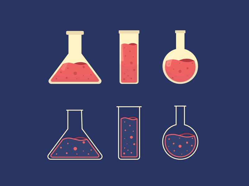 Poison lab magic alchemy drug illustration icon poison