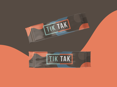TikTak Chocolate chocolate bar package design packaging chocolate
