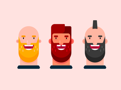 Male With Beard Characters diversity profile picture avatar icon design beard design illustration male character character design beard male