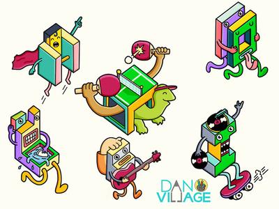 Danvillage Stickers Part 2