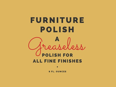 Furniture Polish webfonts typography type css web vintage
