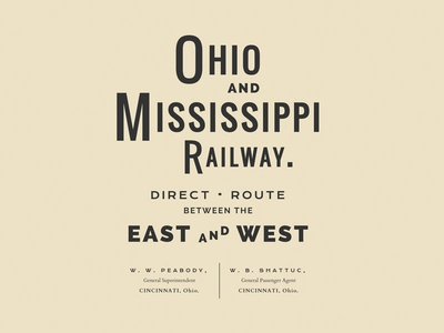 Ohio and Mississippi Railway webfonts typography type css web vintage