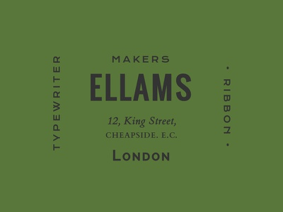 Ellams webfonts typography type css web vintage