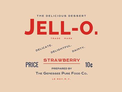 Jell-o. webfonts typography type css web vintage