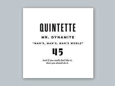 Quintette retro music 50s vintage typography