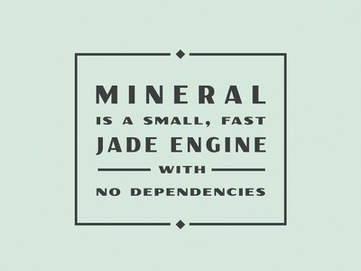 Mineral logo stacked type graphic web