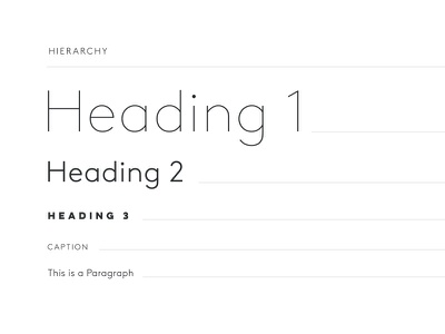 Hierarchy style guide hierarchy type typography