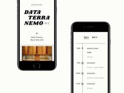 Data Terra Nemo – Mobile Site