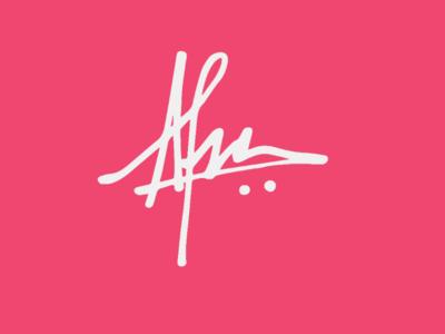 Handdrawn logo for Afra logo signature logo handdrawn logo