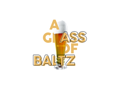 Baltz Beer Glass Ad design art glass cup logo beer designs adobe photoshop advertising design ad