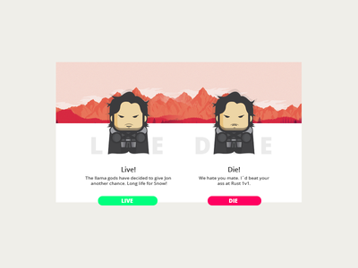 Jon Snow - CGVentures Entry interface ux ui¨ ¨daily ui daily