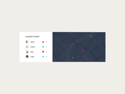 Daily UI 020 · Location Tracker interface ux ui¨ ¨daily ui daily