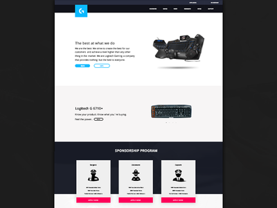 Logitech G Web Design dailyui interface ux ui¨ ¨daily ui daily