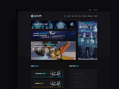 Luminosity GG Web Design web experience¨ interface¨ ¨user esports experience interface user ux ui