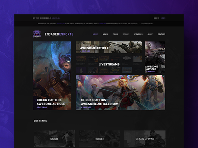 Engaged eSports Website Design design¨ ¨web esports user experience interface web ux ui gaming