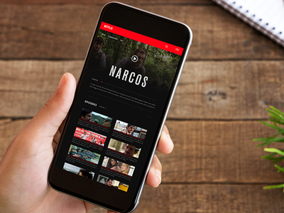 Netflix Application  interface web design app ux ui netflix narcos