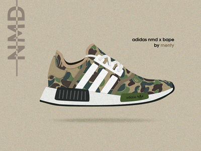 Adidas NMD x Bape illustration nmd hypebeast sneaker shoes adidas bape illustration