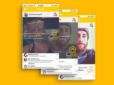 Buhz | View Comments  buhz yellow yellow ui ui ui design mobile view comments layout design