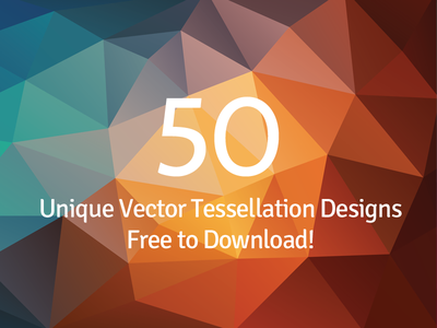 50 Free Tessellated Designs freebie background free download tessellated tessellation abstract polygon minimalist vector