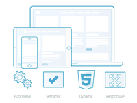 Web Development Header and Icons