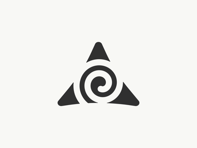 Celtic Wealth Management Logomark wealth management irish scottish triangle triskelion celtic symbol logomark illustration branding logo identity