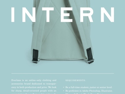 Intern Poster print layout type everlane intern poster typography graphic design